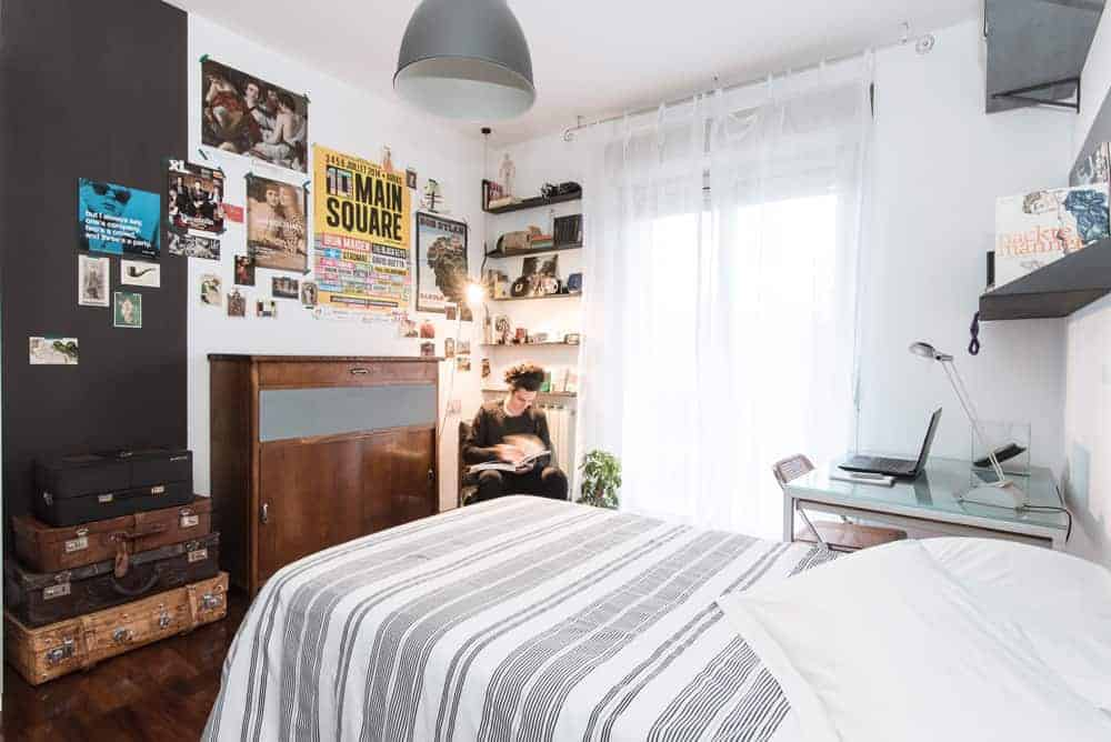 Camera da letto vintage di un giovane universitario - Bedroom young guy