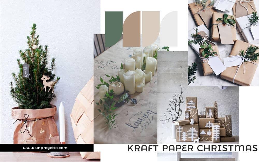 Kraft paper Christmas moodboard decor inspiration