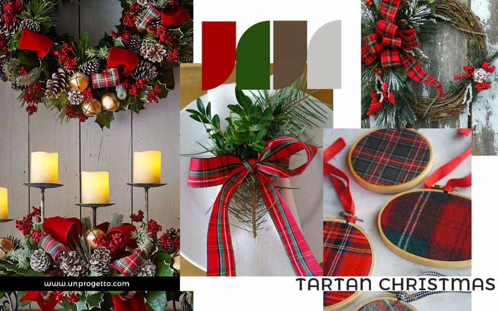 Addobbi di Natale Creativi - rosso e verde tartan