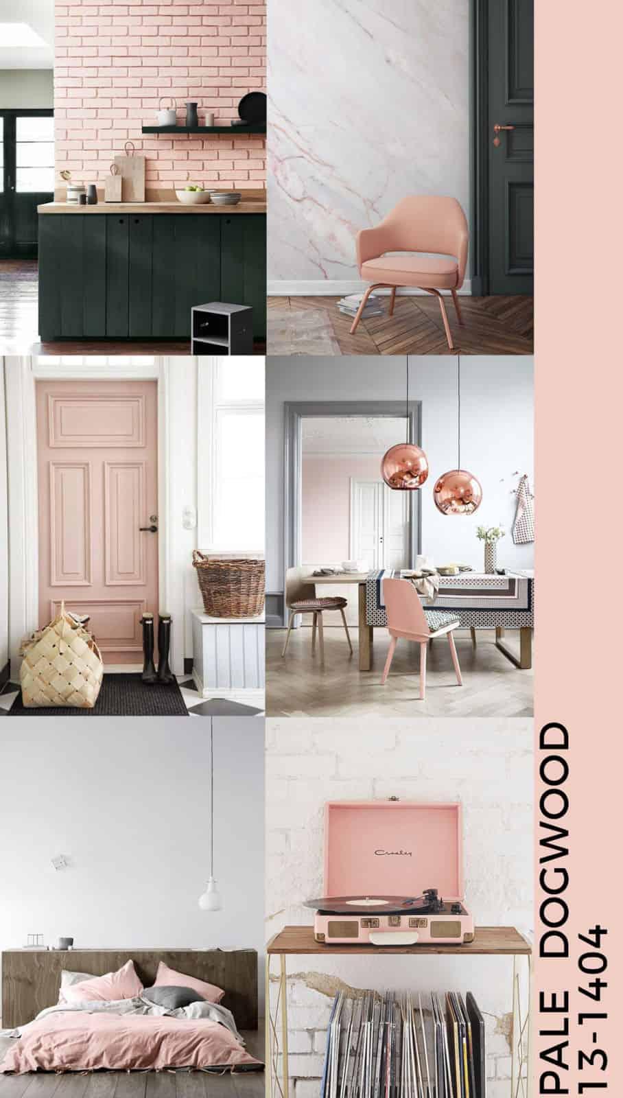 Pale dogwood moodboard interior design