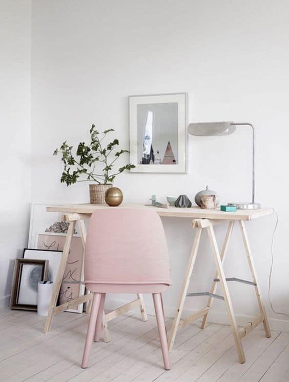 Pale dogwood pink interiors interior design