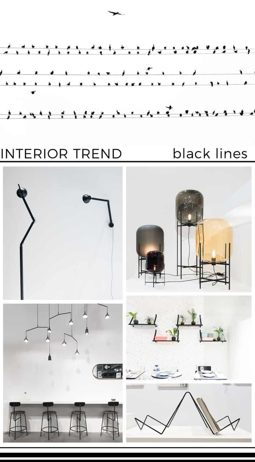 black lines interior trend 2017 maison&objet ITA