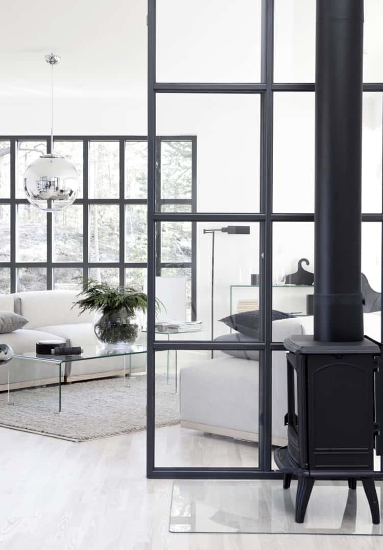 Parete vetrata tra cucina e salotto unprogetto - Cucina e salotto ...