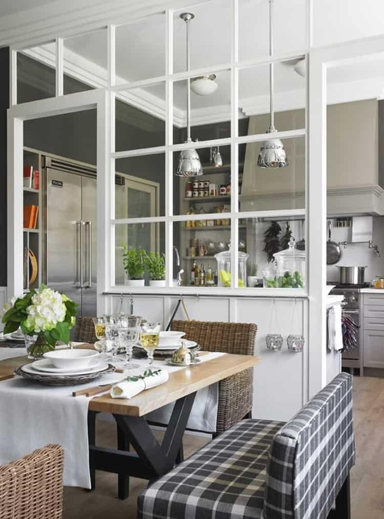 Parete Vetrata Per Dividere Cucina E Salotto Di Vetro