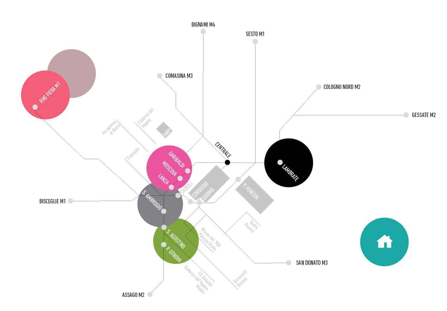 Mappa Milano Design Week
