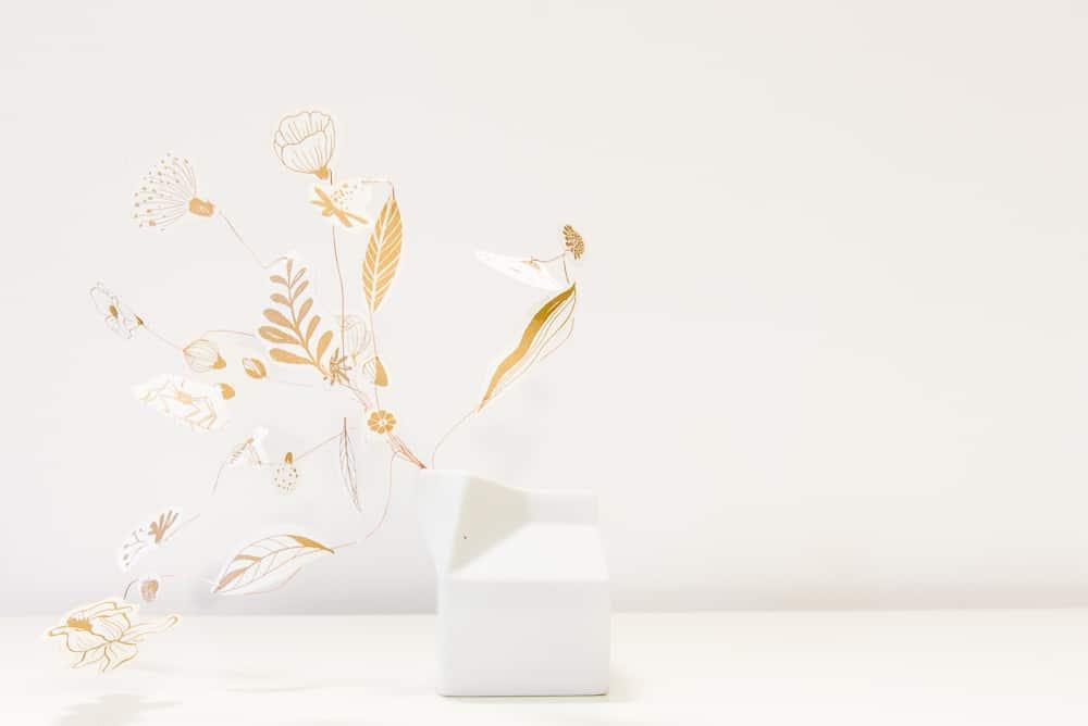 Bouquet transportable idea regalo di carta