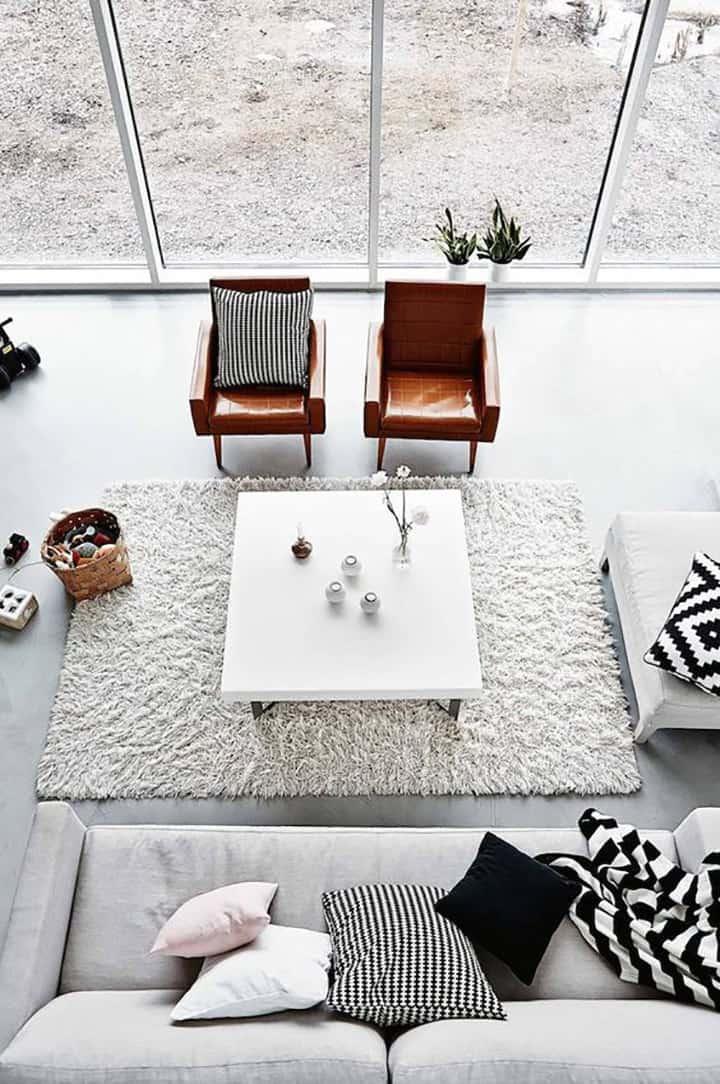 Cemento e pelle - cemento e cuoio - come arredare casa