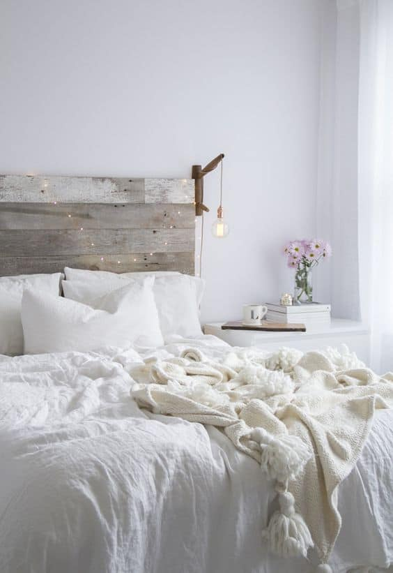 camera da letto bianca total white interior design inspiration