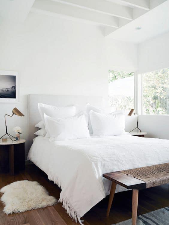 camera da letto bianca total white interior design inspiration