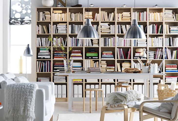 storia billy ikea libreria styling
