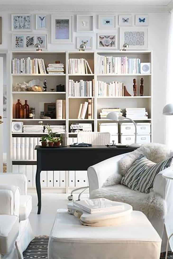 storia billy ikea libreria styling