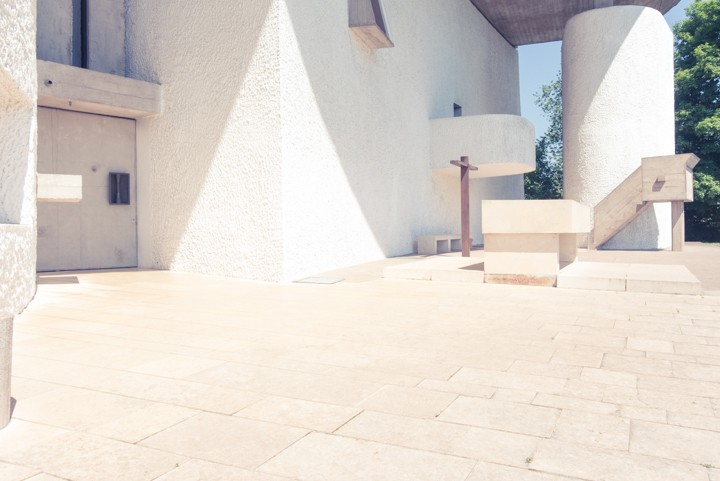Ronchamp chiesa Le Corbusier e Renzo Piano