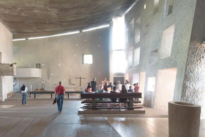 Ronchamp chiesa di Le Corbusier e Renzo Piano