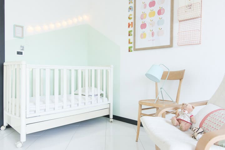 bedroom for a baby girl pastel color