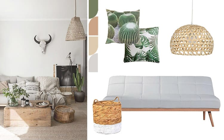 living room style natural palette