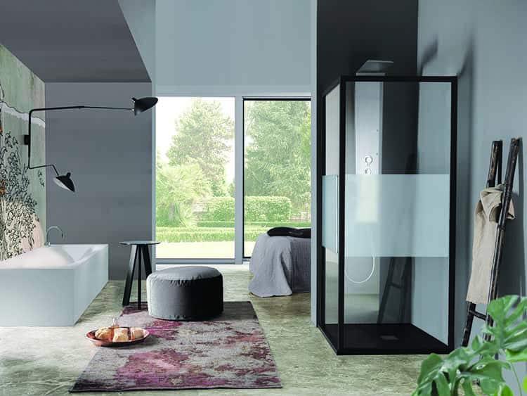 cabina Doccia moderna con profili colorati Acrux Samo