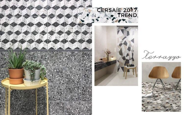 Trend Cersaie 2017 interior ceramica terrazzo