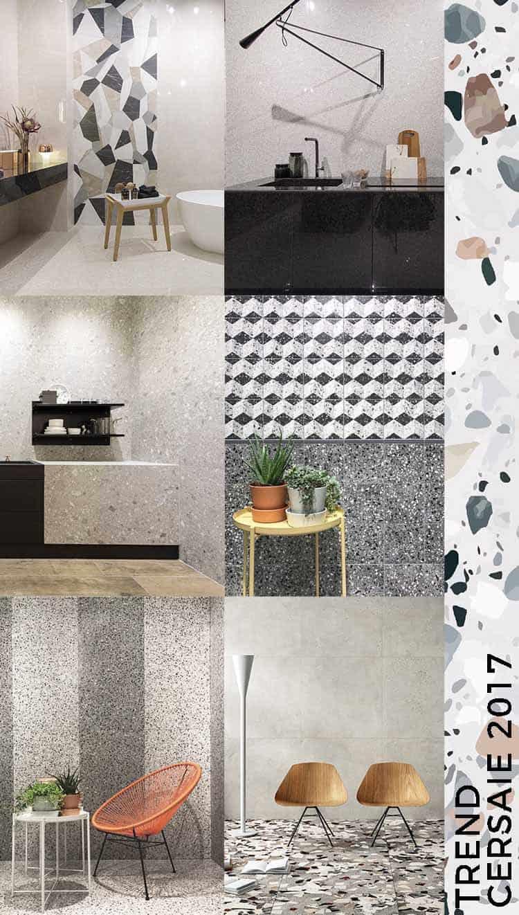 piastrelle effetto terrazzo Trend Cersaie 2017 interior ceramica