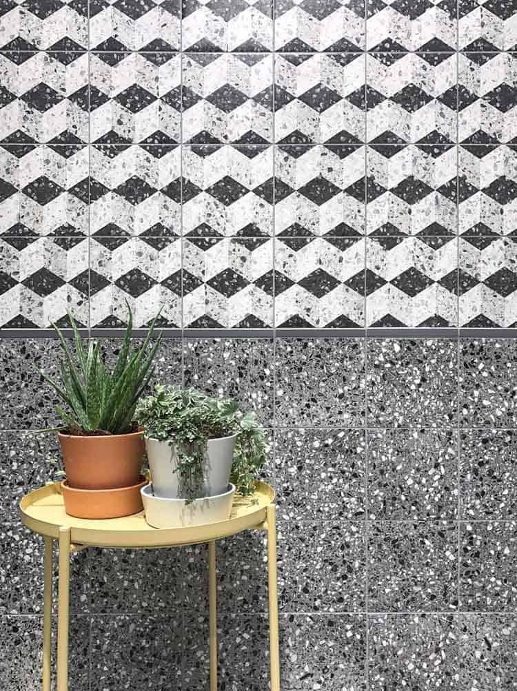 piastrelle effetto terrazzo Trend Cersaie 2017 interior ceramica Venezia CIR