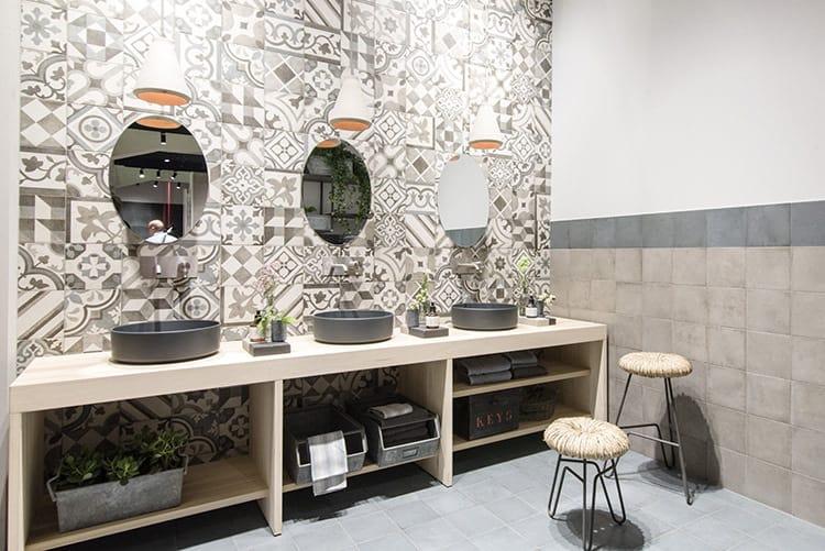 piastrelle effetto cera polvere Trend Cersaie 2017 interior ceramica
