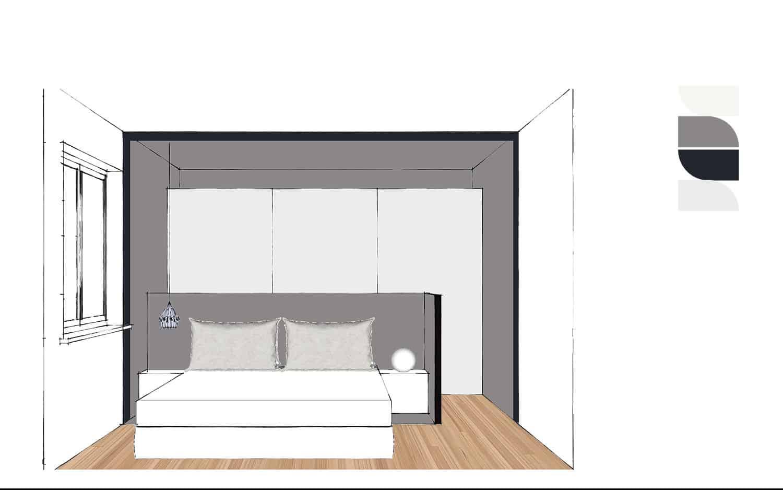 progettare la zona notte camera matrimoniale