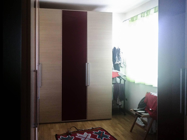 camera da letto progetto zona notte prima