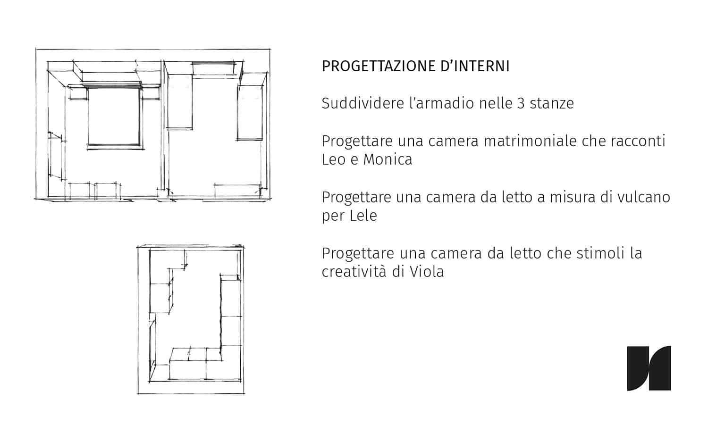 progetto interni progettare la zona notte dividere armadio
