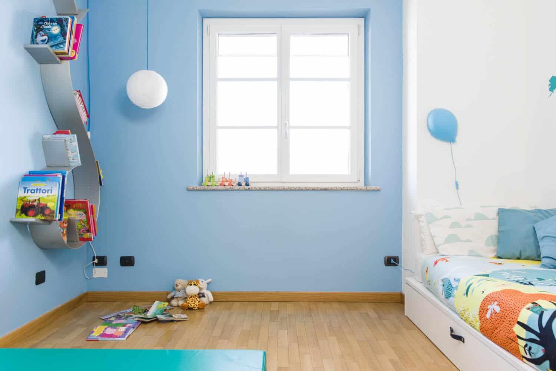 camera bambino idee parete arrampicata altalena camera gioco