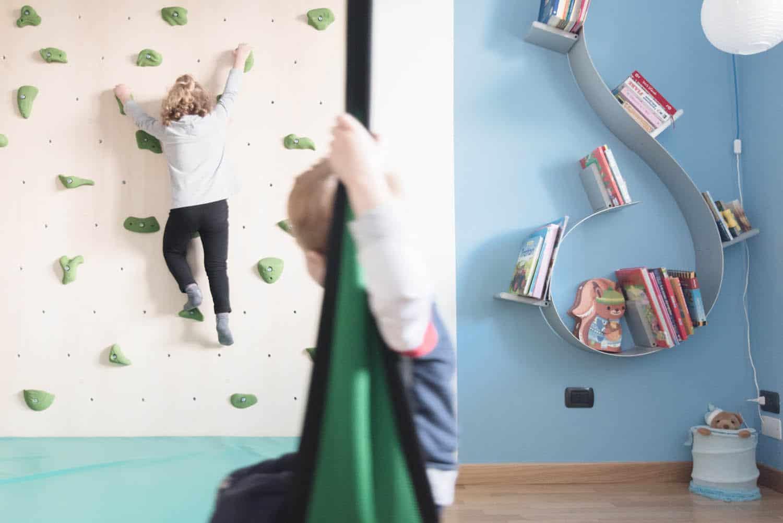 camera gioco parete arrampicata