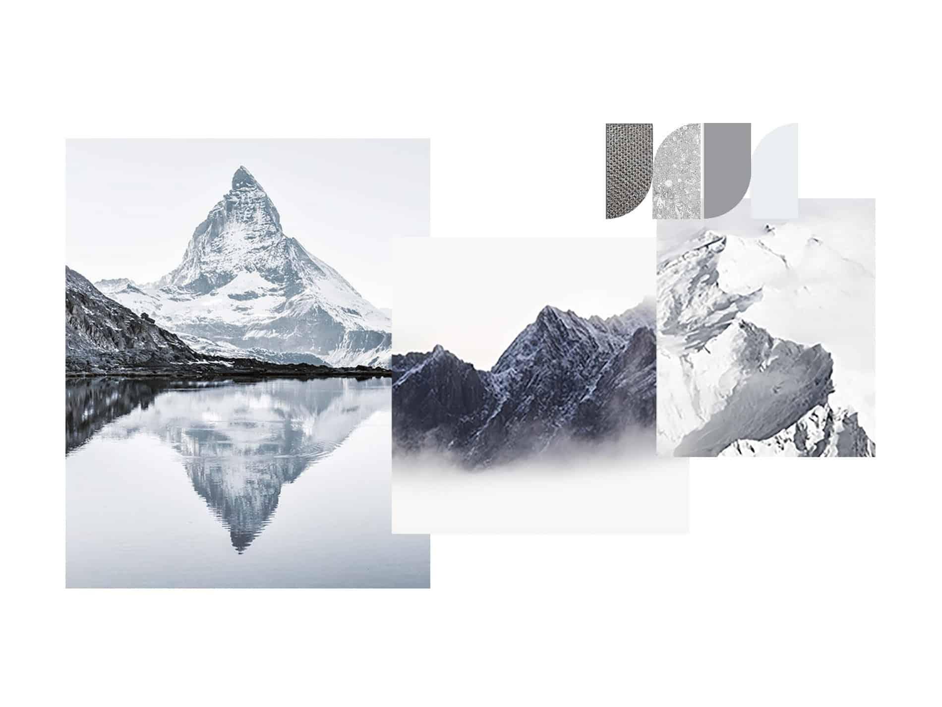 palette di colori ispirata alla montagna FAP ceramiche