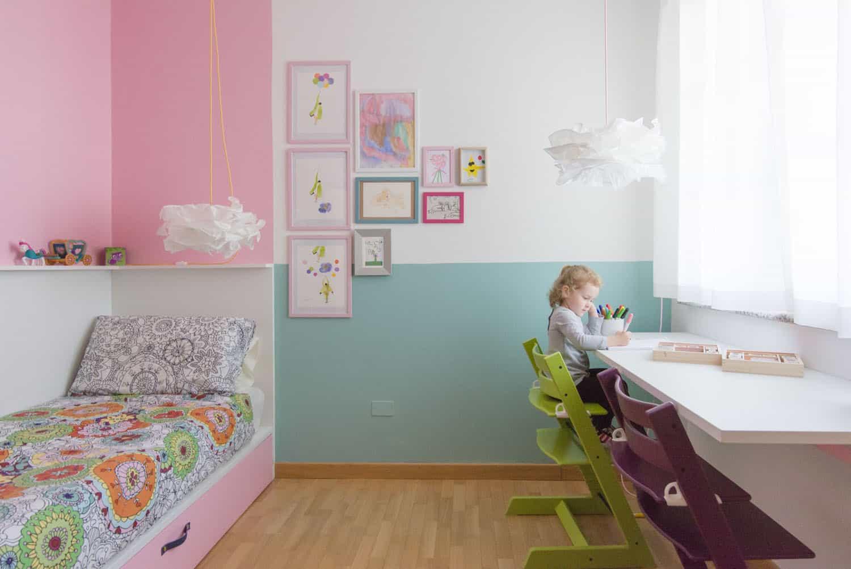 cameretta bambina colori pastello idee per arredare