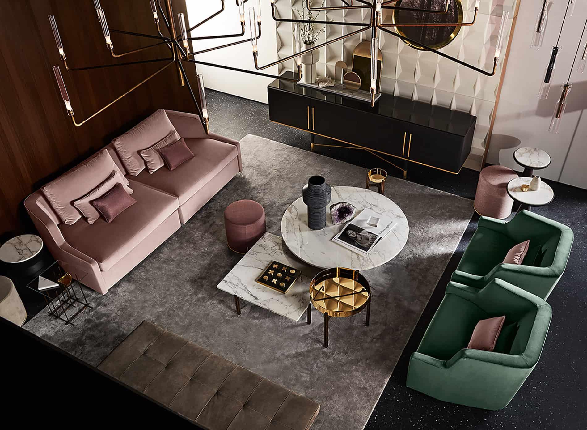 rosa interior trend 2018 tavolo gambe rosa design dante