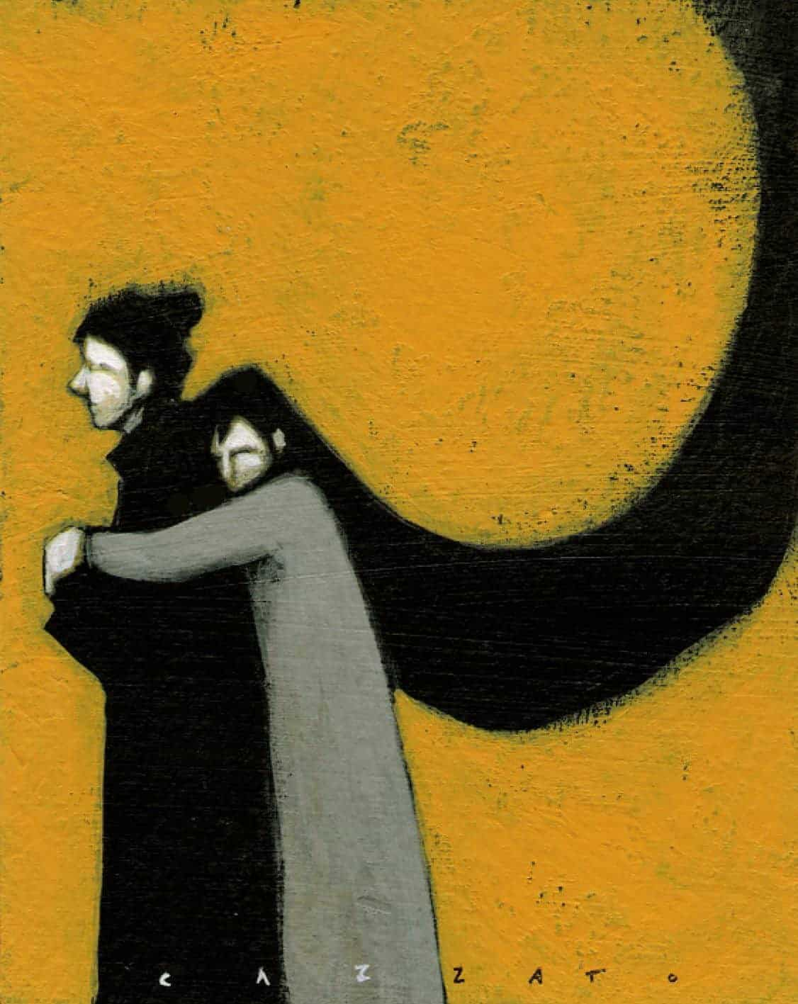 Marco Cazzato illustrazione abbraccio amore