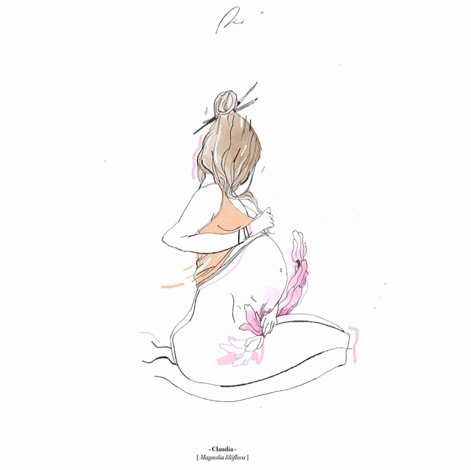 illustrazione amore erotico erbario Gabriele Pino