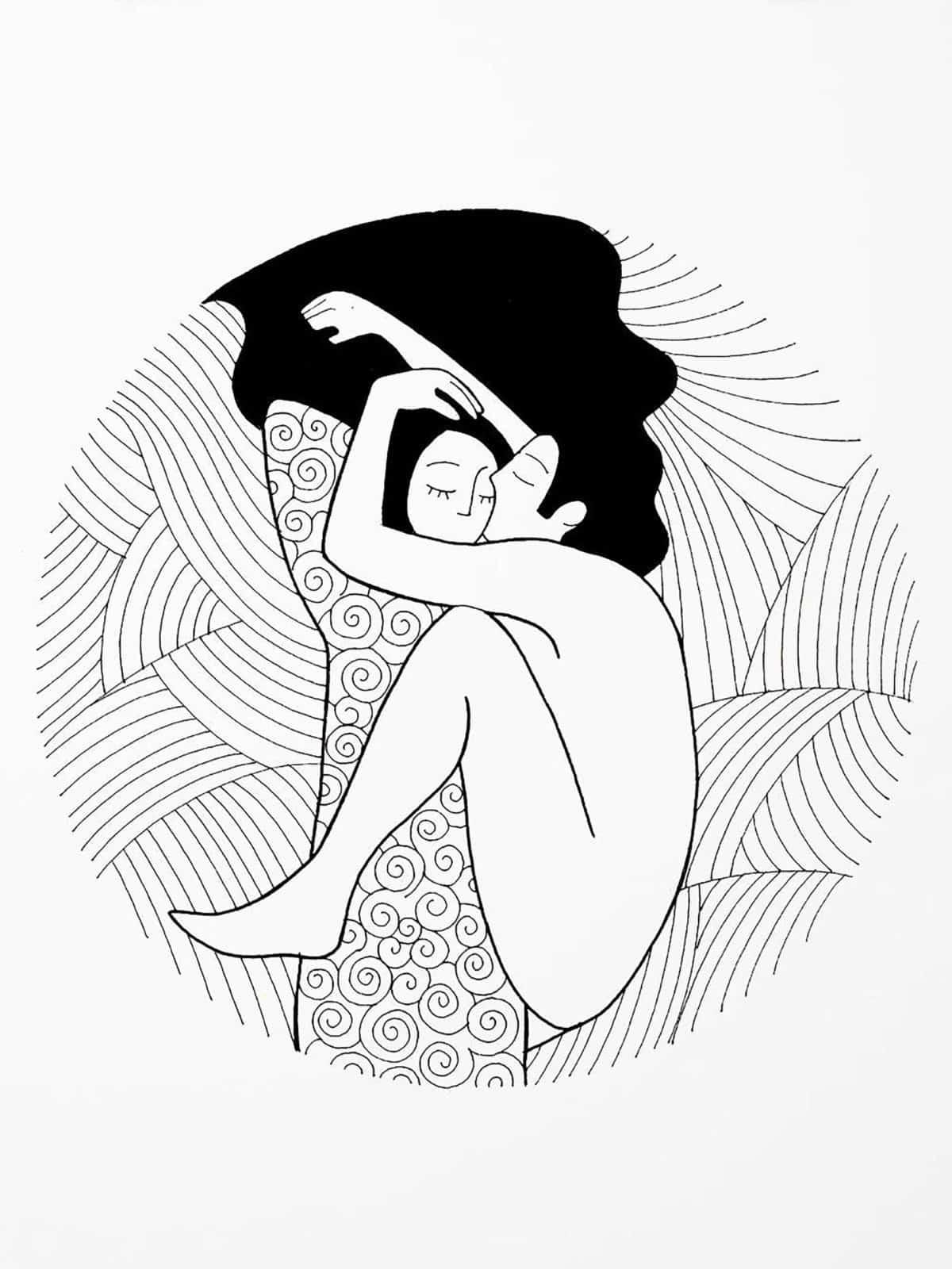 illustrazione amore John Lennon Yoko Ono
