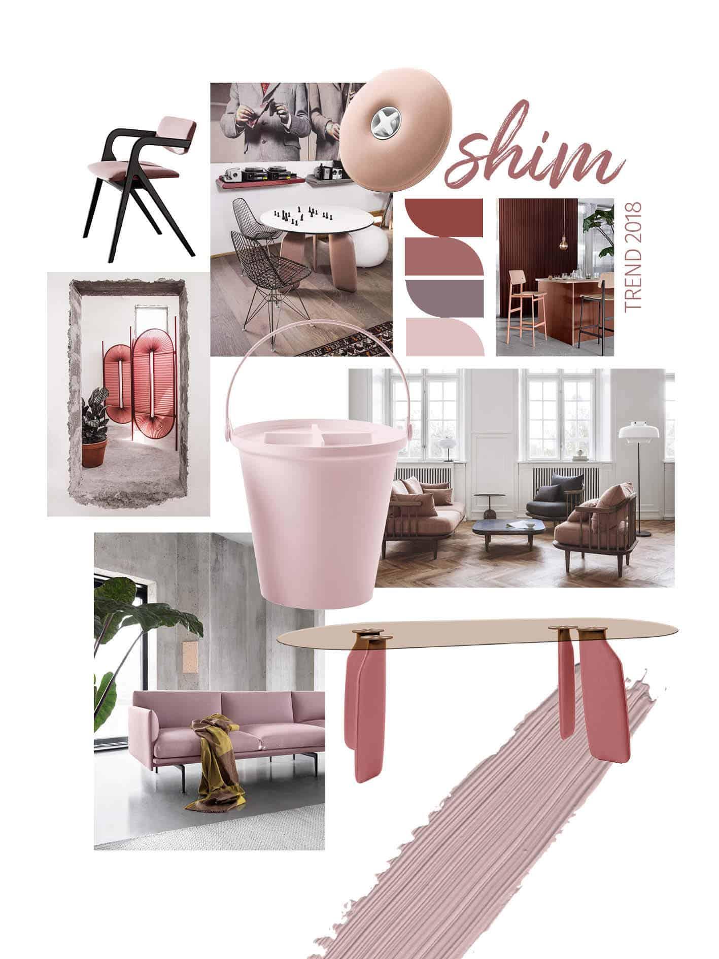 shim pink interior trend 2018 moodboard