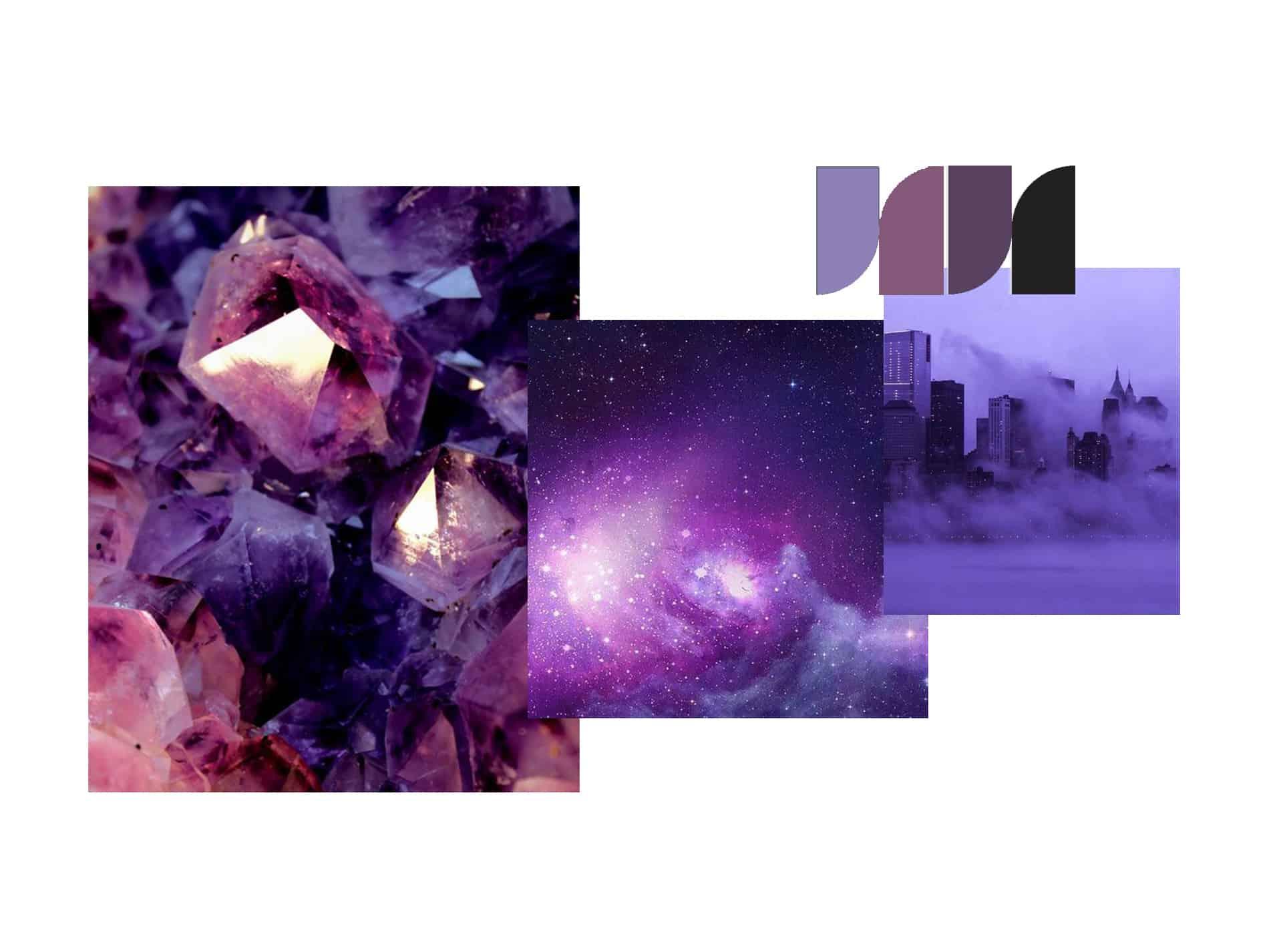 ultraviolet moodboard velvet