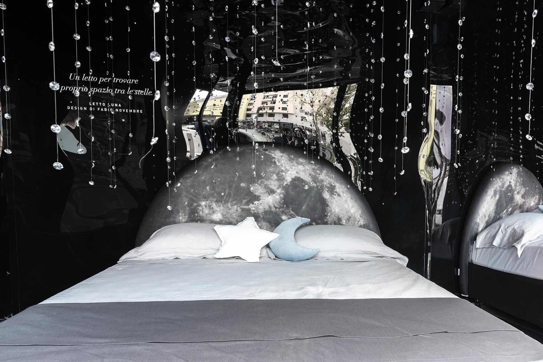 letti di design economici per dormire luna
