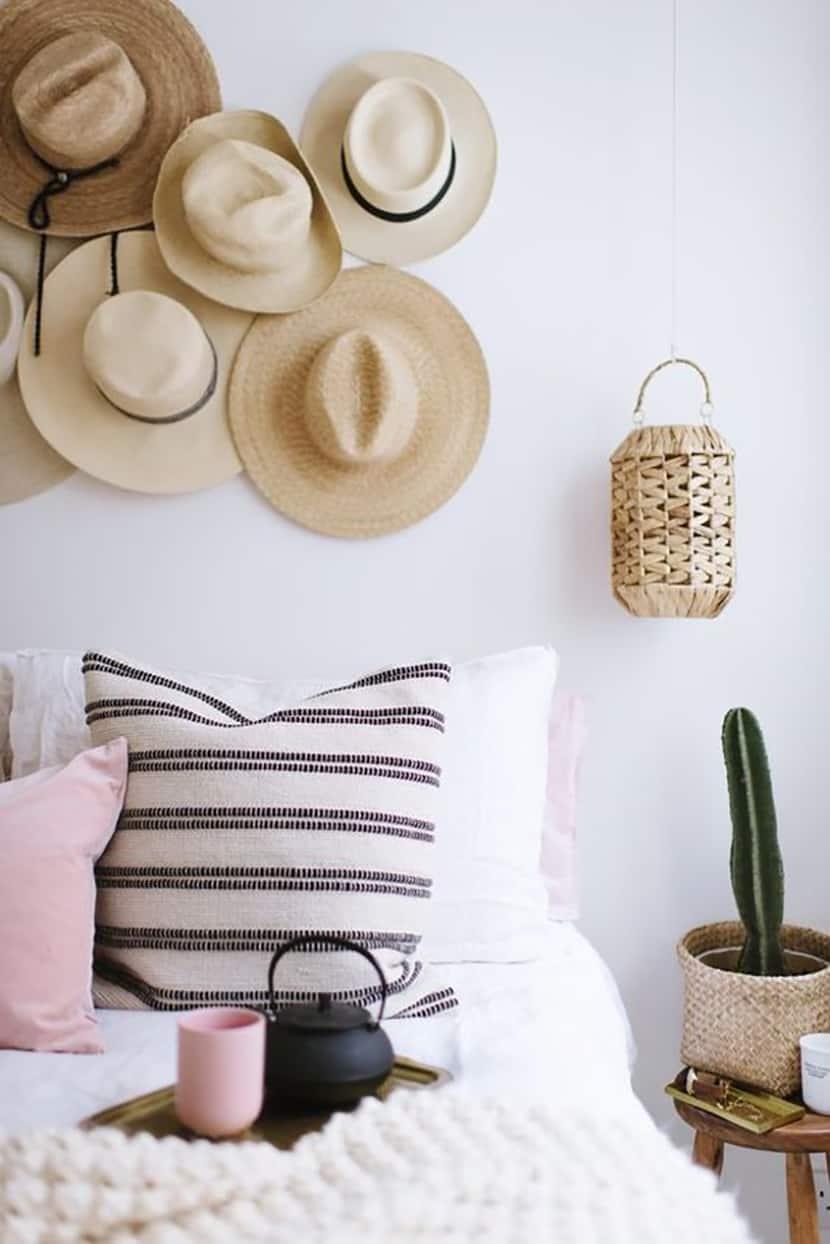 arredare cappelli di paglia interior design