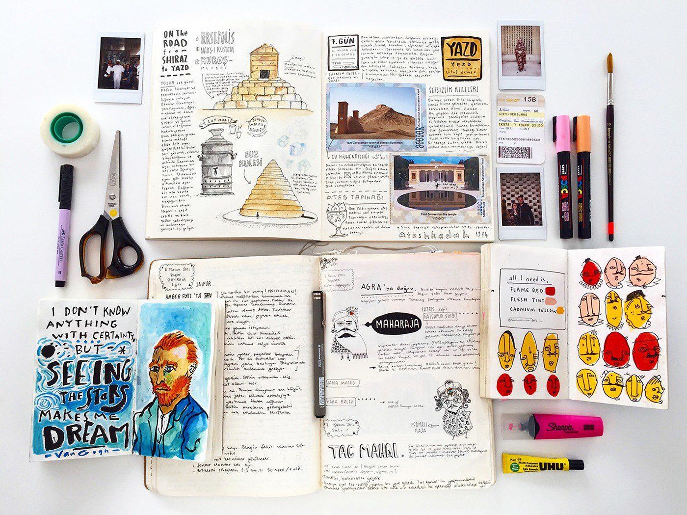 sketchbook Carnet de Voyage Beril Ates illustrazione