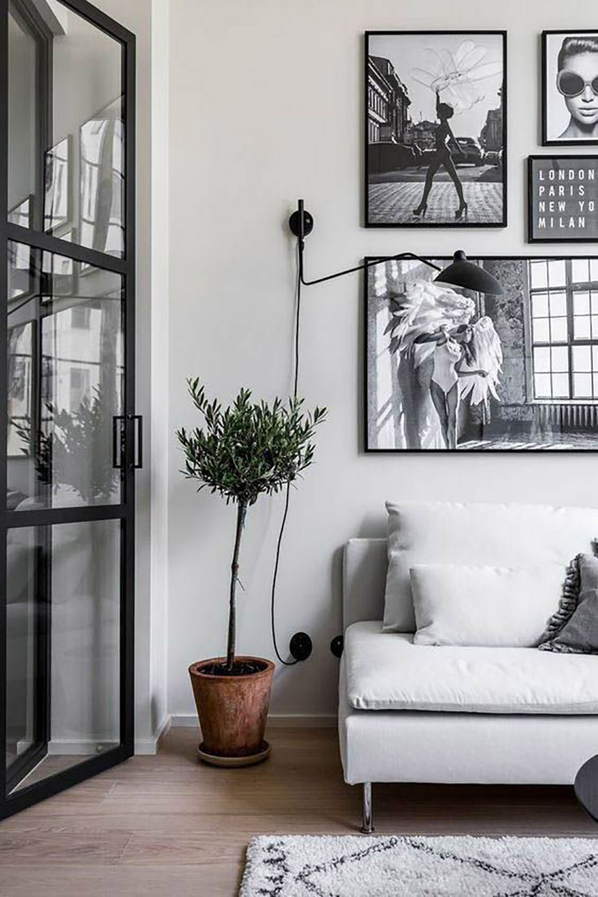 decluttering studio living interior