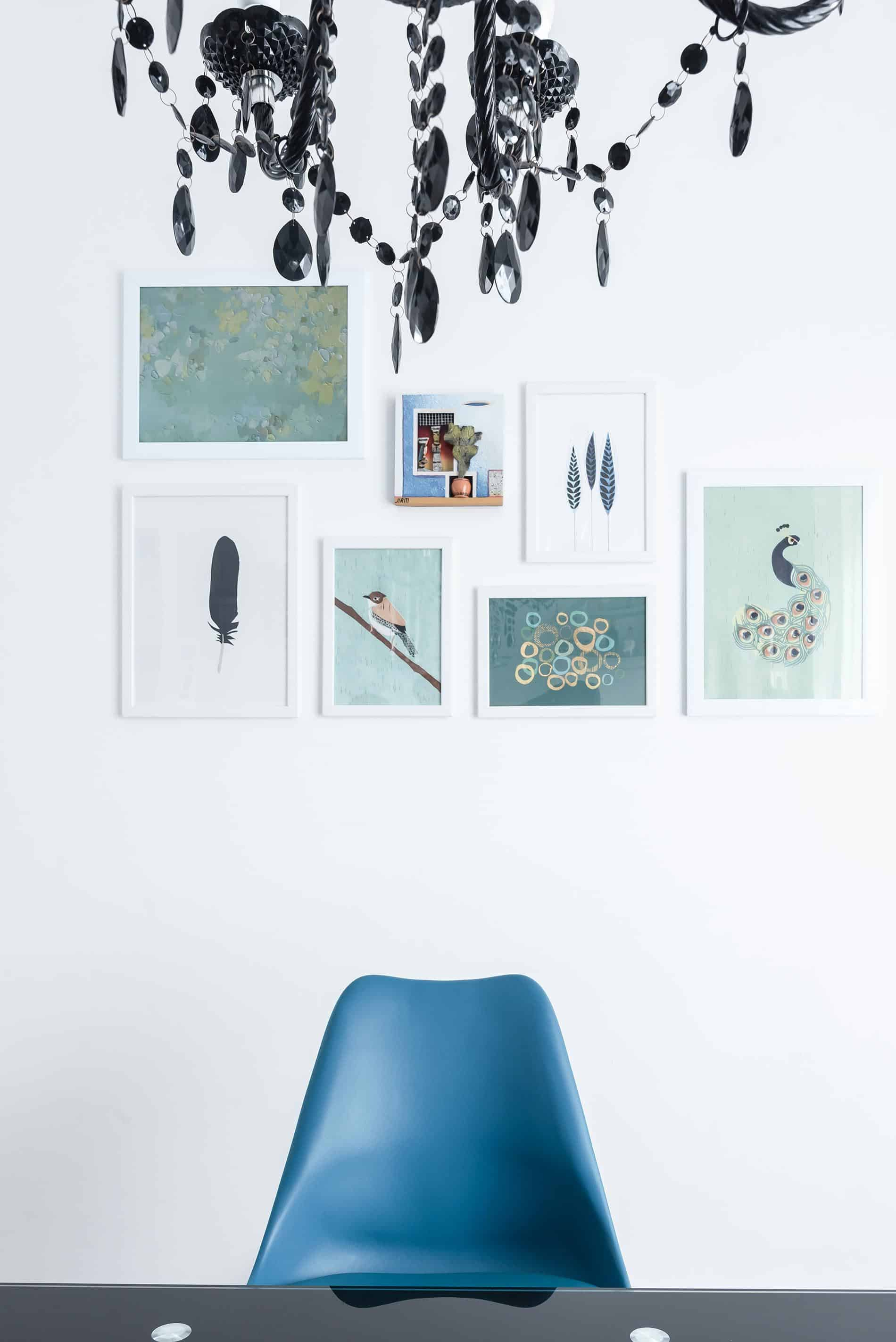 unprogetto portfolio tavolo e sedie verde petrolio