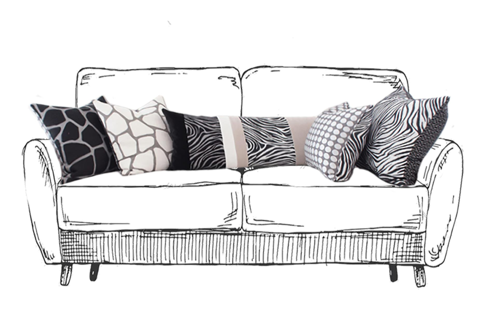 cushions how to set them on the sofa