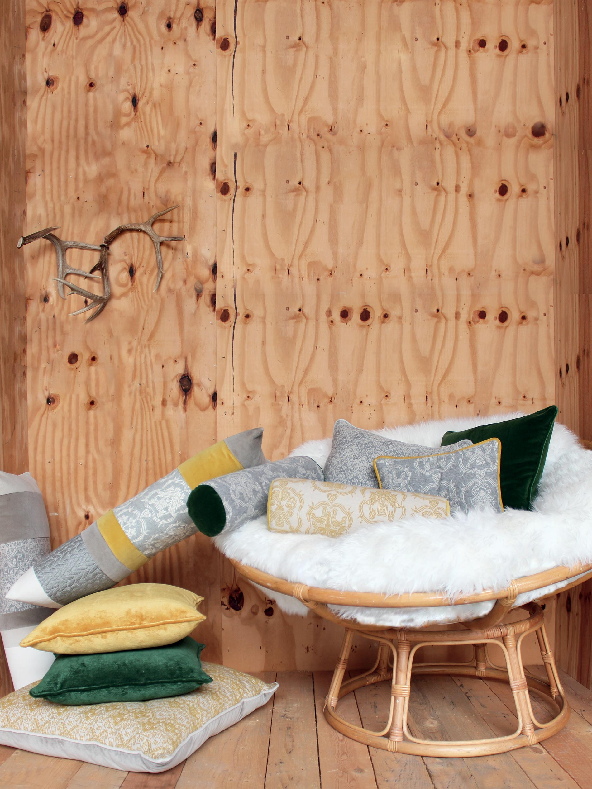 arredare uno chalet in montagna con i tessuti