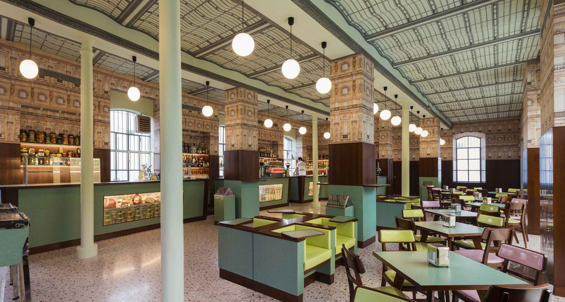 Wes Anderson Bar Luce Milano Fondazione Prada