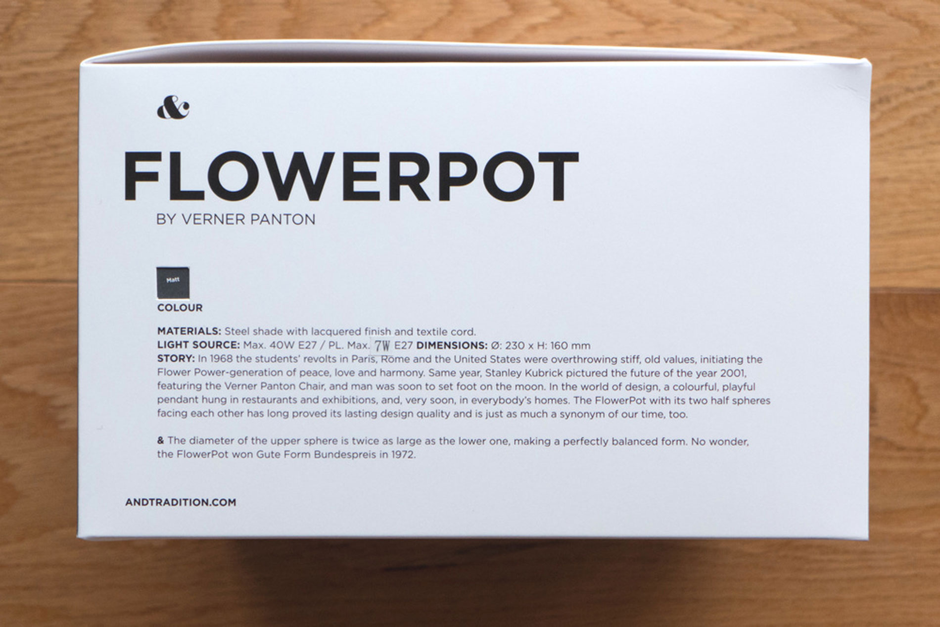 flowerpot &Tradition Verner Panton design icon