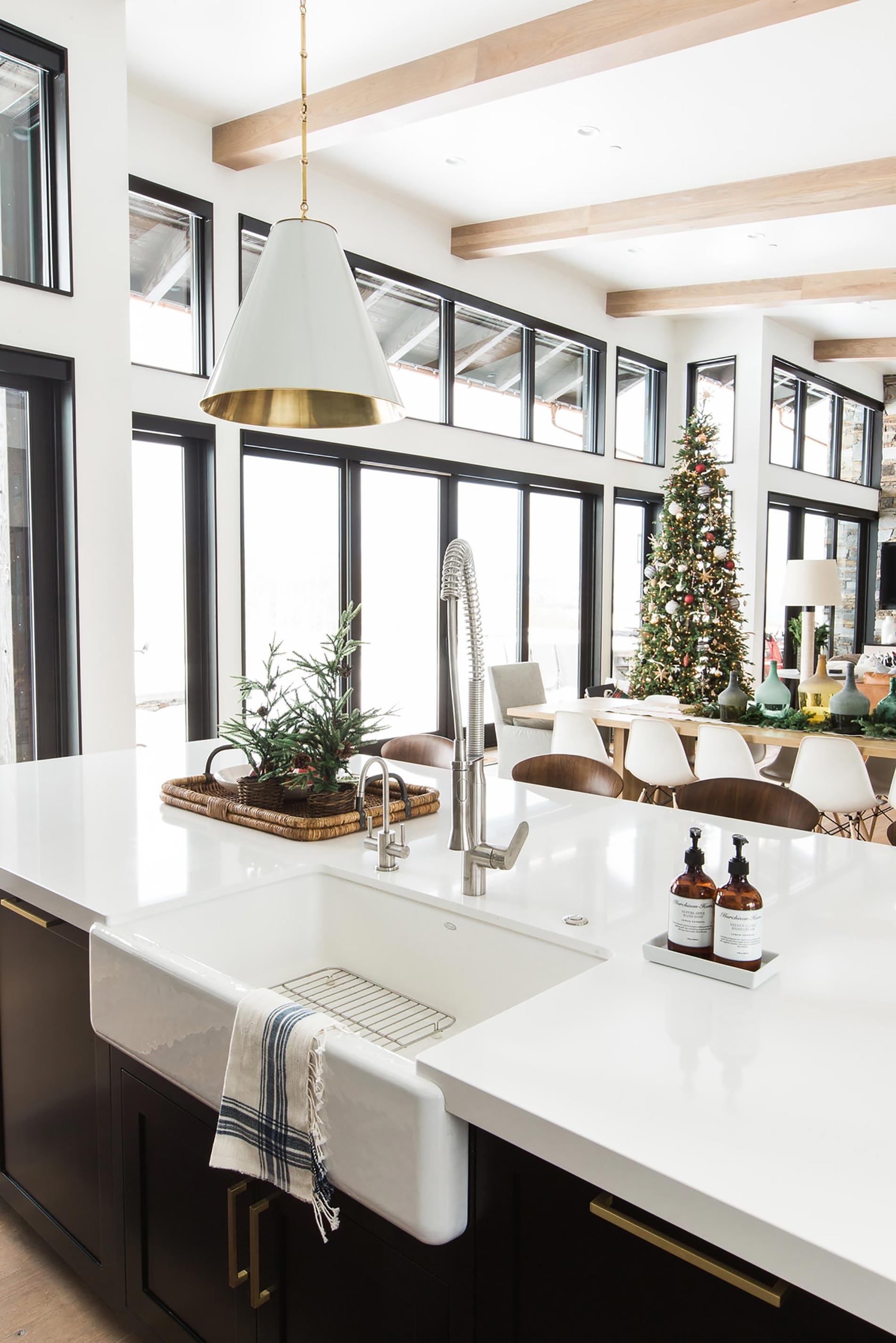 christmas home tour cucina lavello