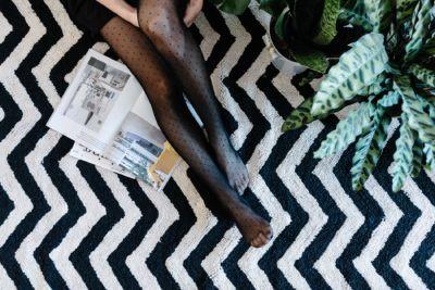 tappeto moderno lavabile lorena canals rug
