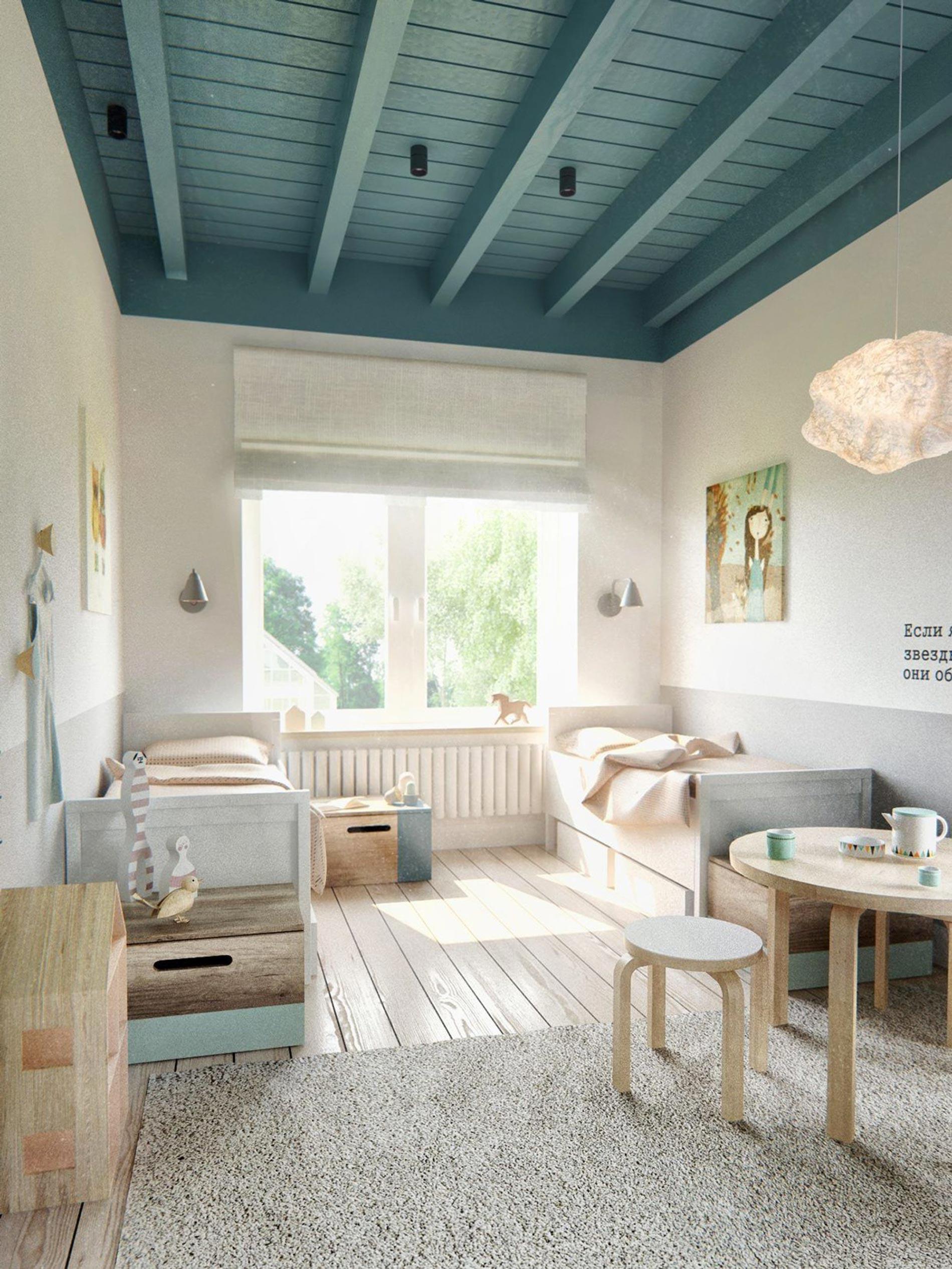 soffitto colorato ispirazioni soffitto blu soffitti colorati