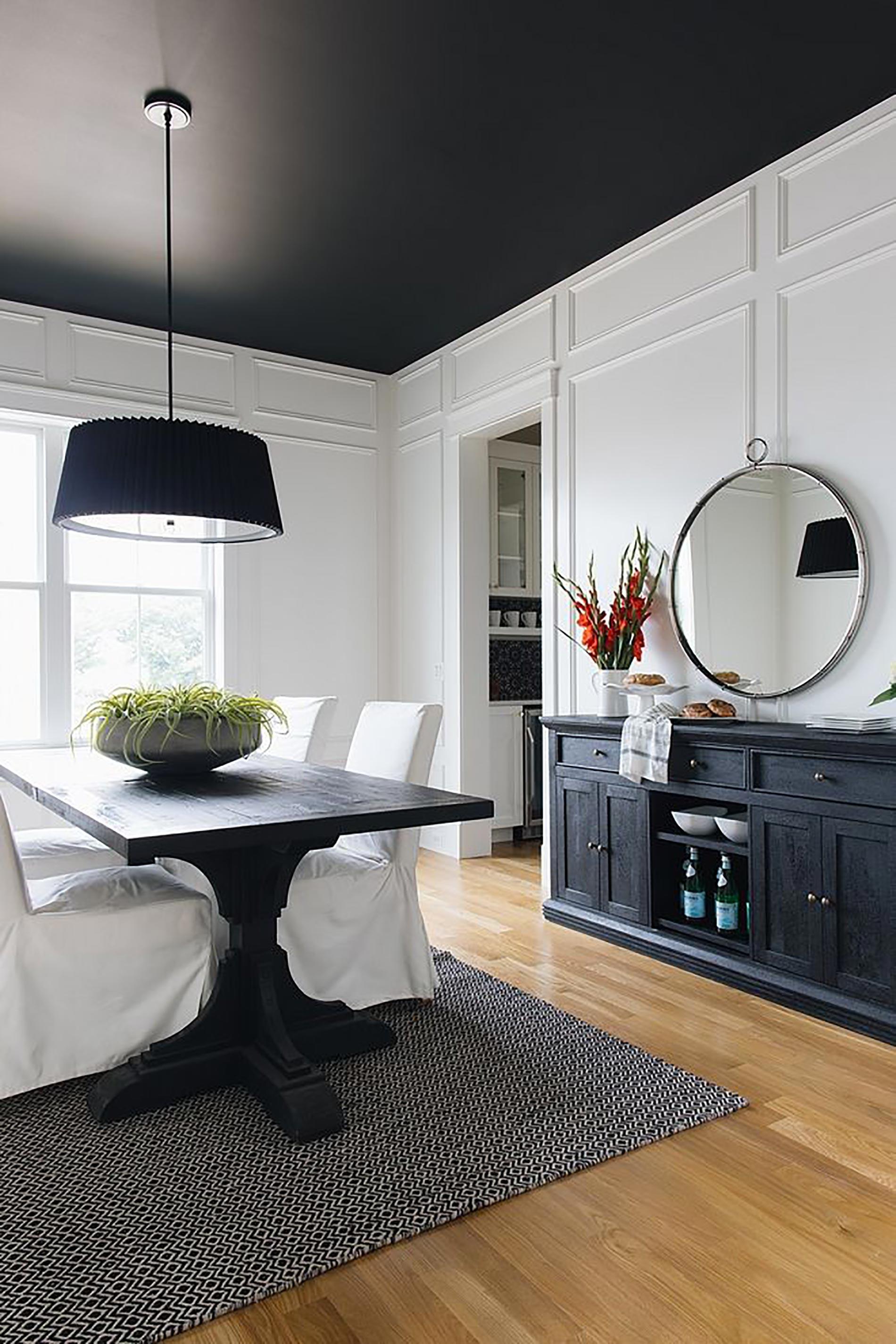 soffitto colorato ispirazioni soffitto nero